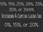 2014 Dividend and Capital Gains Tax Rates