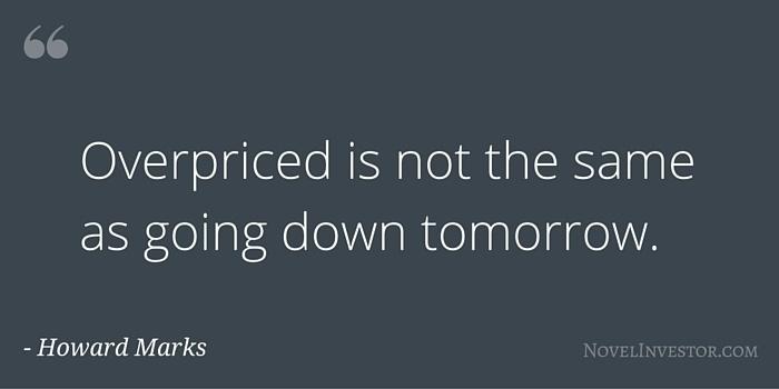 Marks on Overpriced Markets