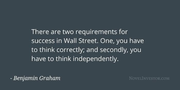 Ben Graham on success