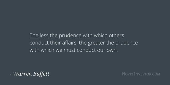 Buffett on being cautious
