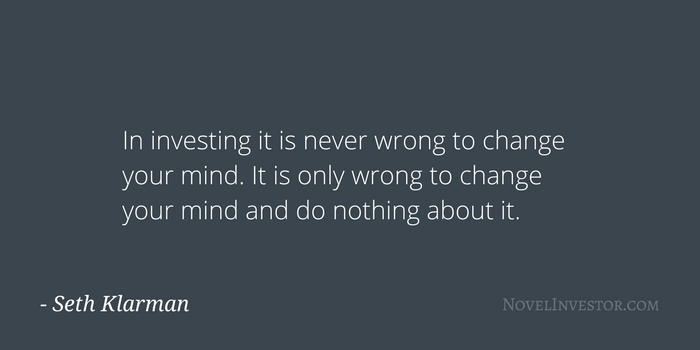 Klarman on changing your mind